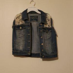 A floral Jean jacket